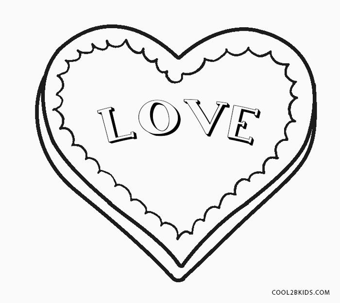 Love Hearts Coloring Pages Coloring Home