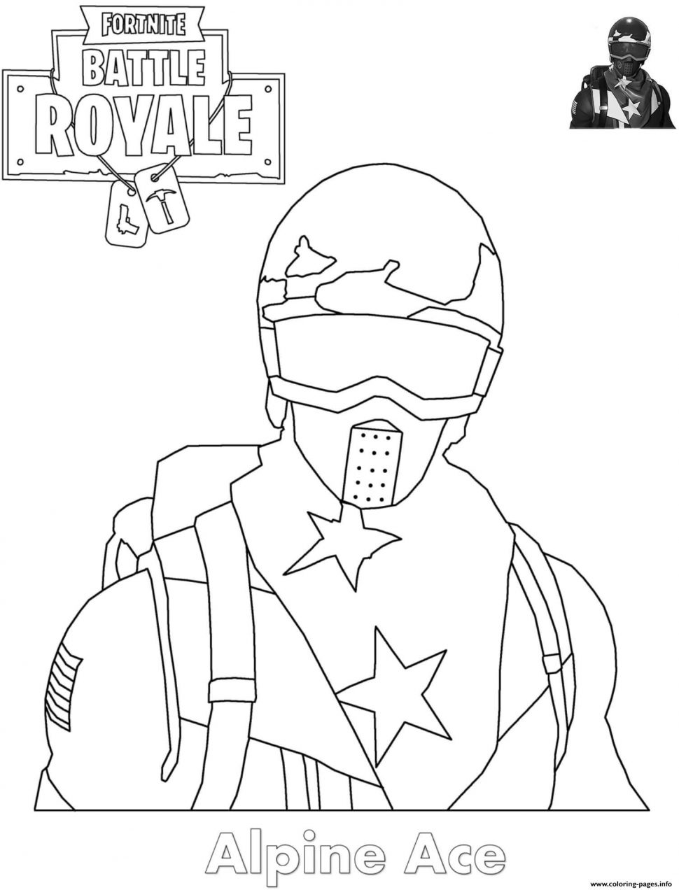Coloring: Skin Fortnite Coloring Printable 1547053789alpine ...