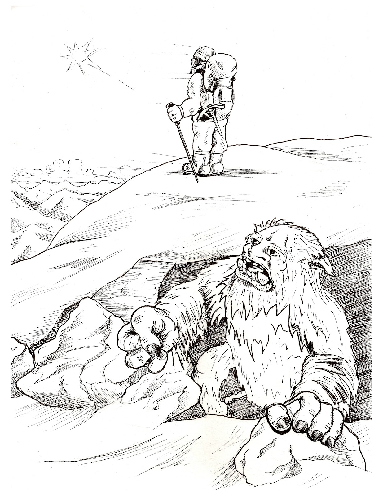 bigfoot printable coloring pages - photo#17
