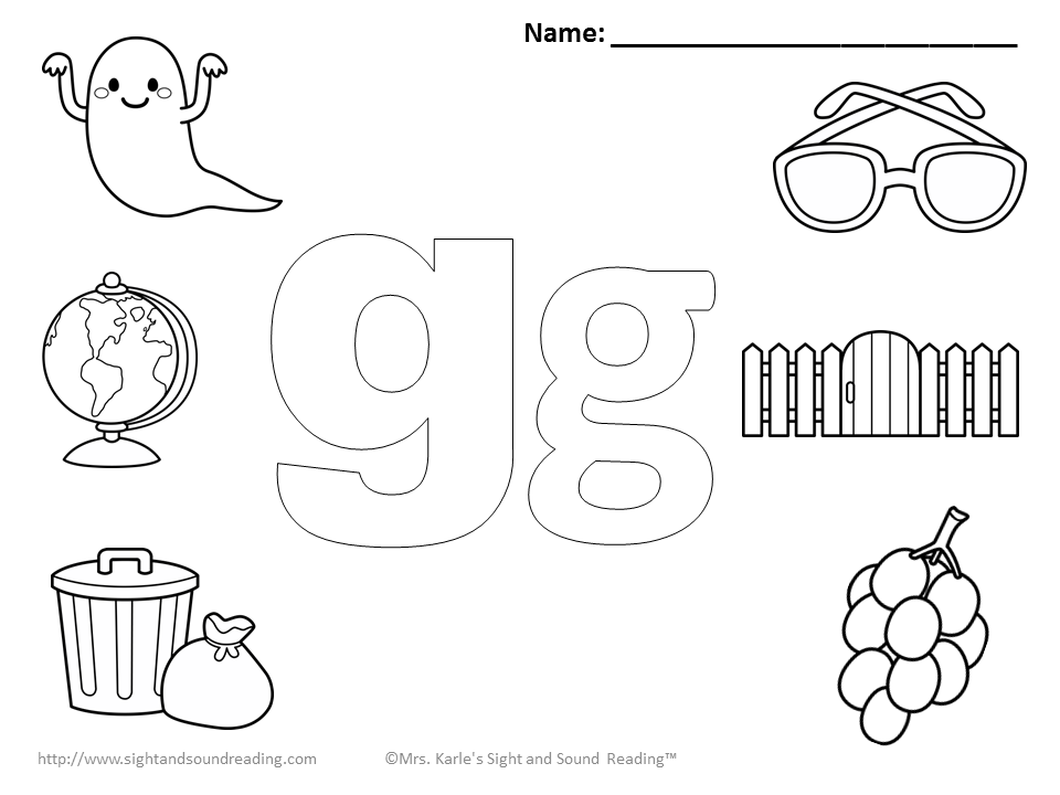 Letter G Coloring Pages Preschool - Coloring Home