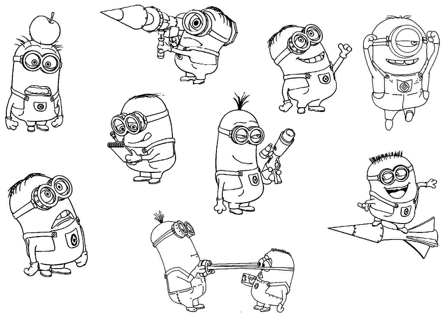 Minion coloring pages free printable - Free Printable Despicable Me Minion Coloring Pages Beautiful