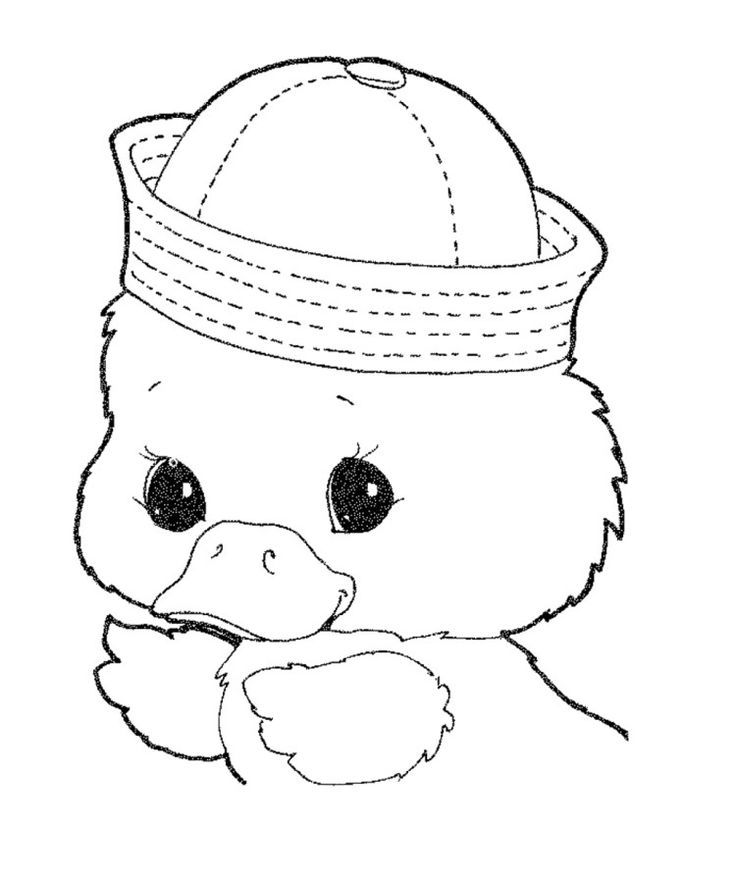 cute baby duck coloring pages - photo#11