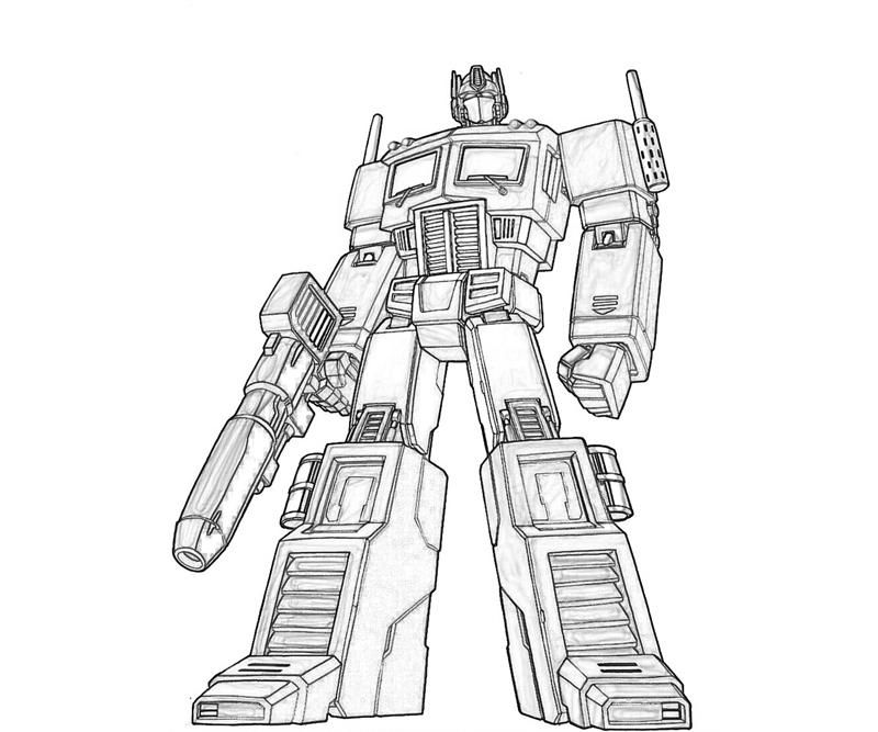 Step by Step to Color Transformer Coloring Pages - Toyolaenergy.com