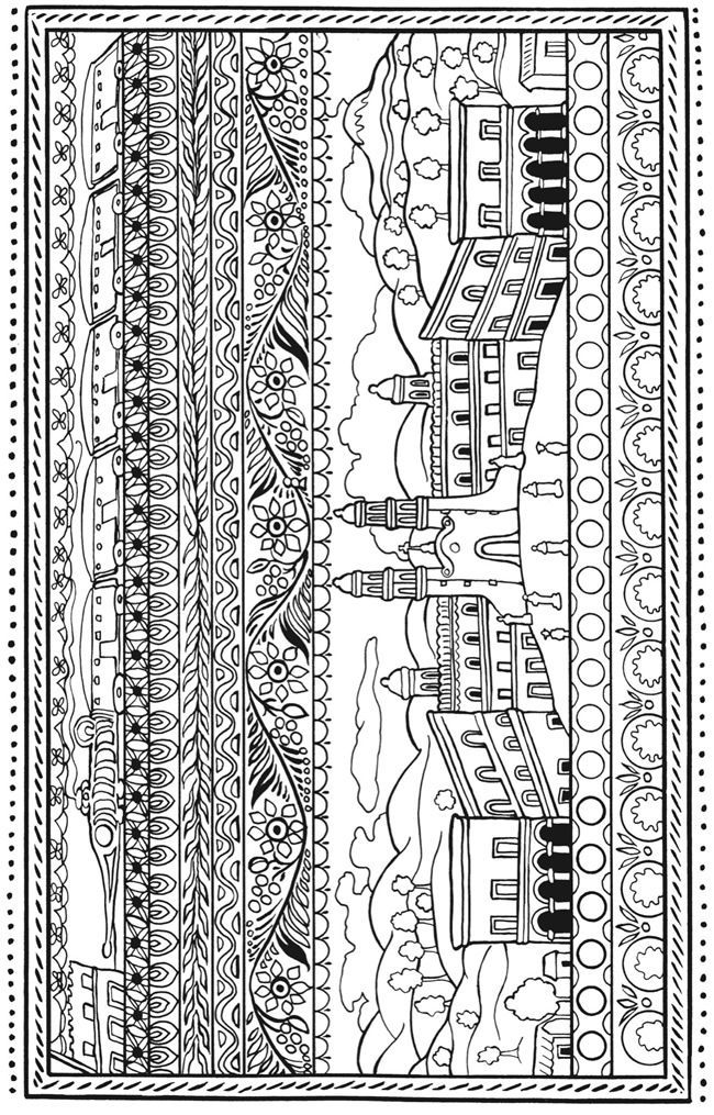 African Folk Art Coloring Pages