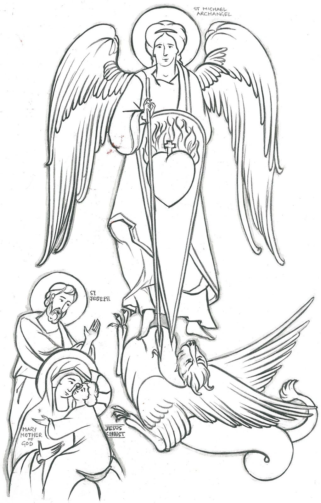 Victorious cast coloring pages coloring home for Archangel michael coloring page