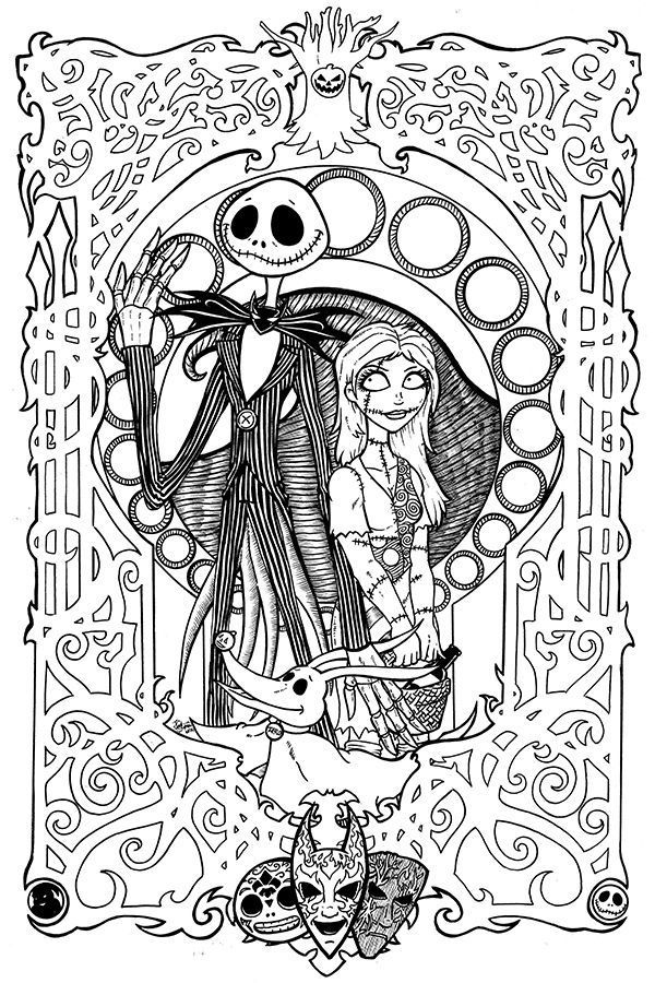 a nightmare before christmas coloring pages - nightmare before christmas coloring pages to print