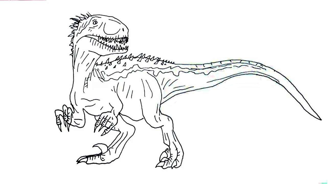 Coloring Pages : Jurassic World Coloring Pages Indoraptor ...