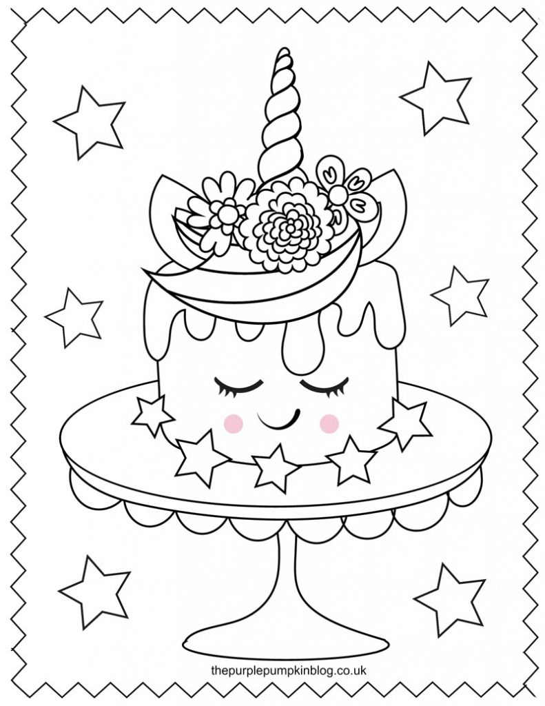 Super Sweet Unicorn Coloring Pages   Free Printable Colouring Book ...