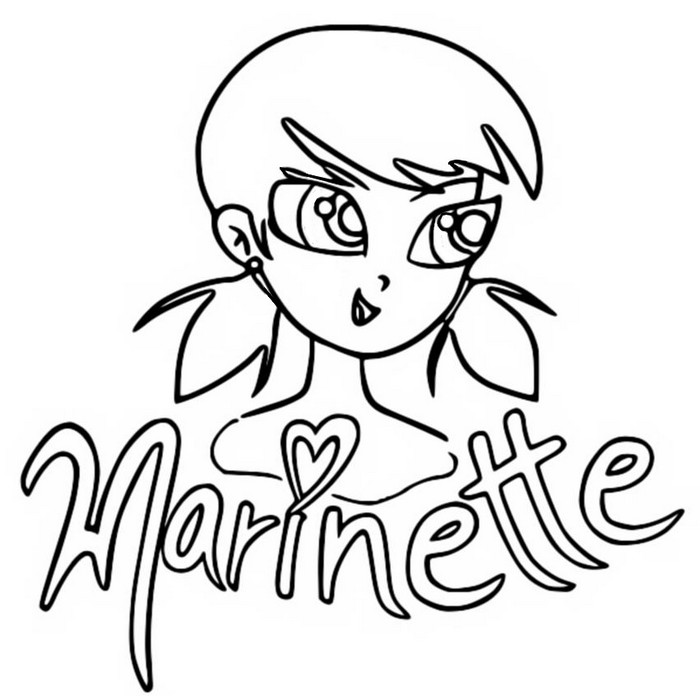 Coloring page Miraculous Ladybug : Marinette Dupain-Cheng 10