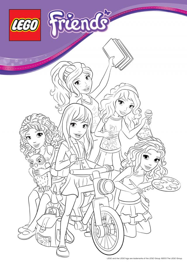 - Lego Friends Coloring Pages - Coloring Home