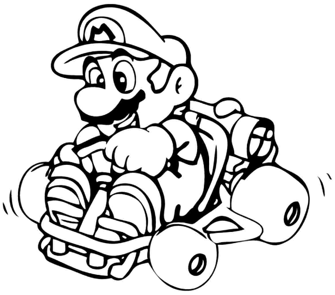 Free coloring pages mario