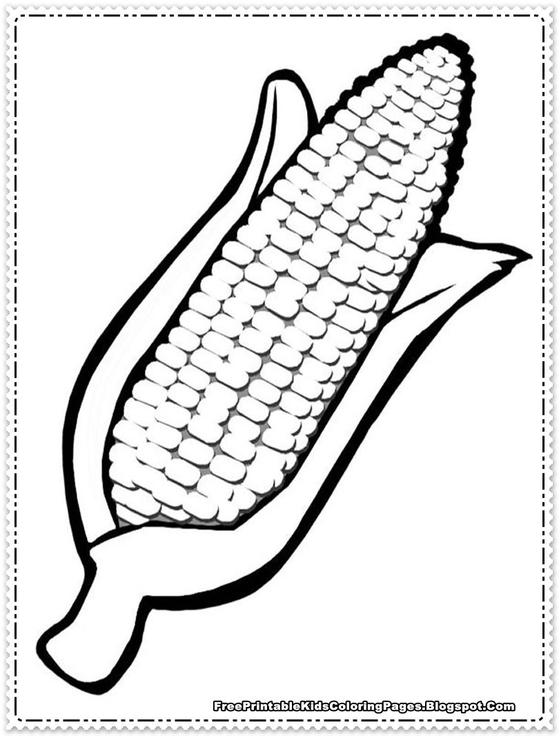 Corn Cob Coloring Page Az Coloring Pages Corn Color Page