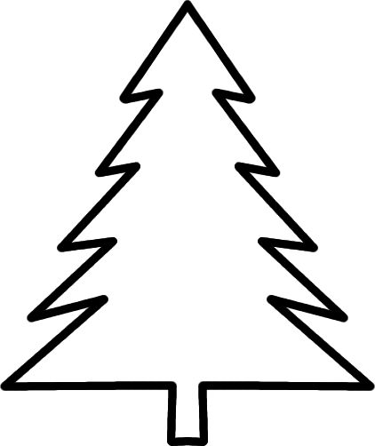 evergreen tree coloring pages - photo#29