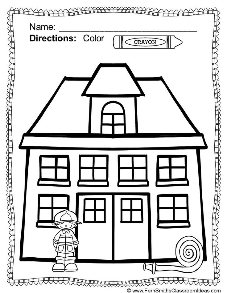 Fire prevention week coloring pages coloring home for Free printable fire prevention coloring pages