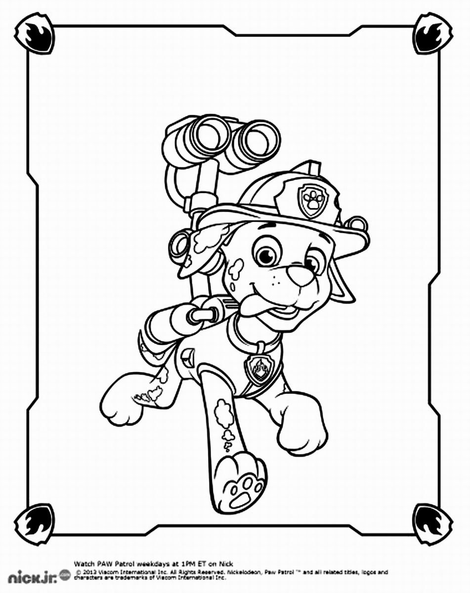 Paw Patrol Coloring Pages : Paw patrol coloring pages home