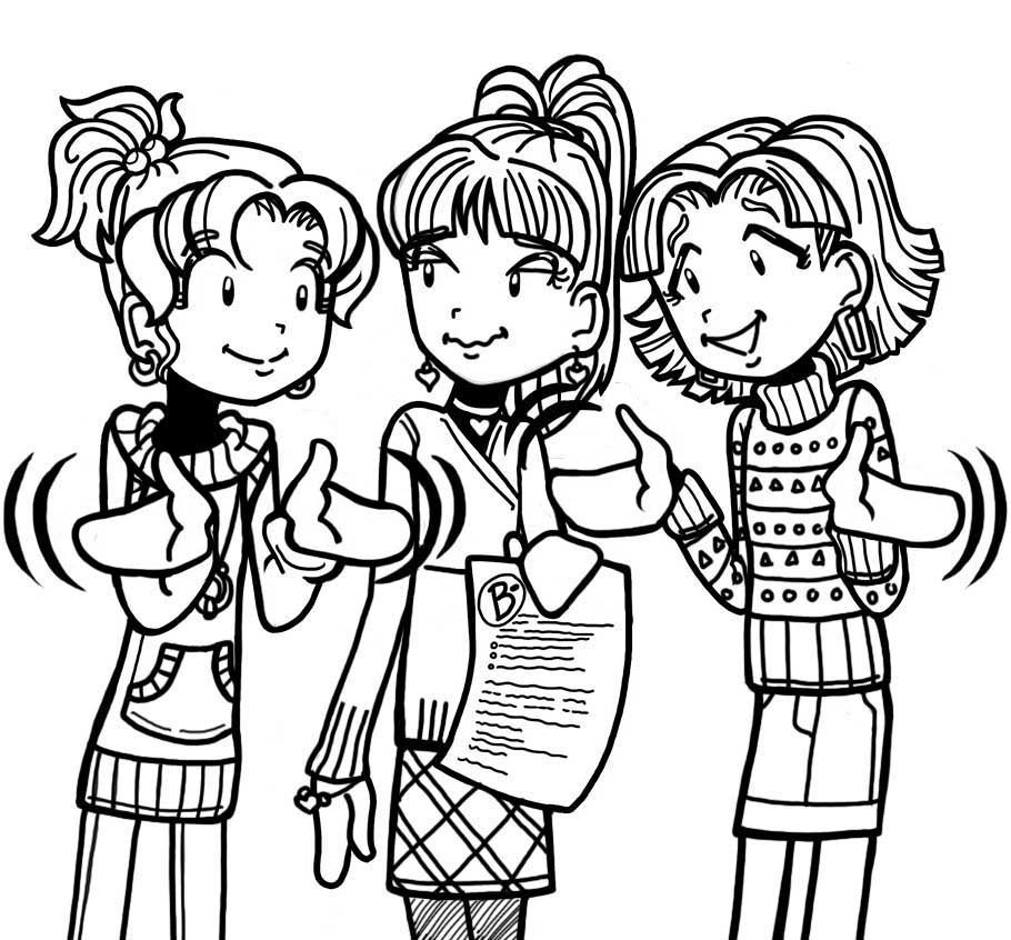 dork diaries 8 coloring pages - photo#23