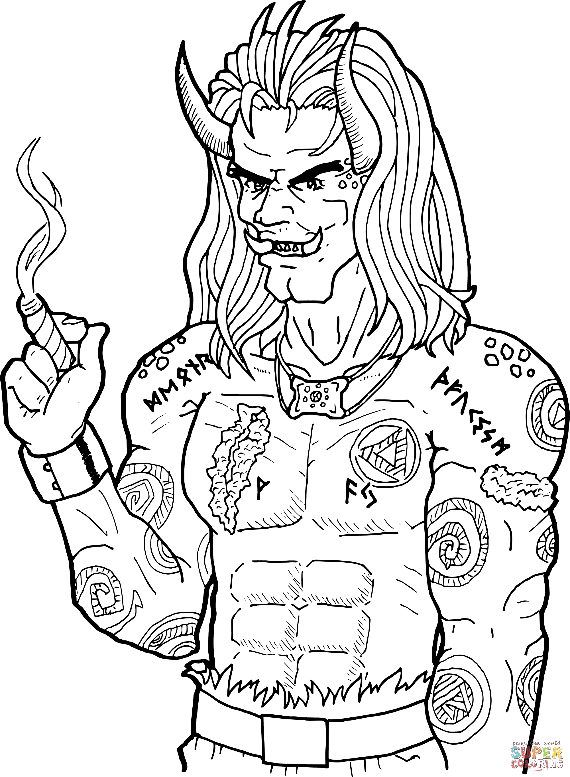 Ogre coloring page | Free Printable Coloring Pages