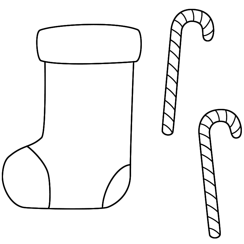 coloring pages christmas stocking coloring home