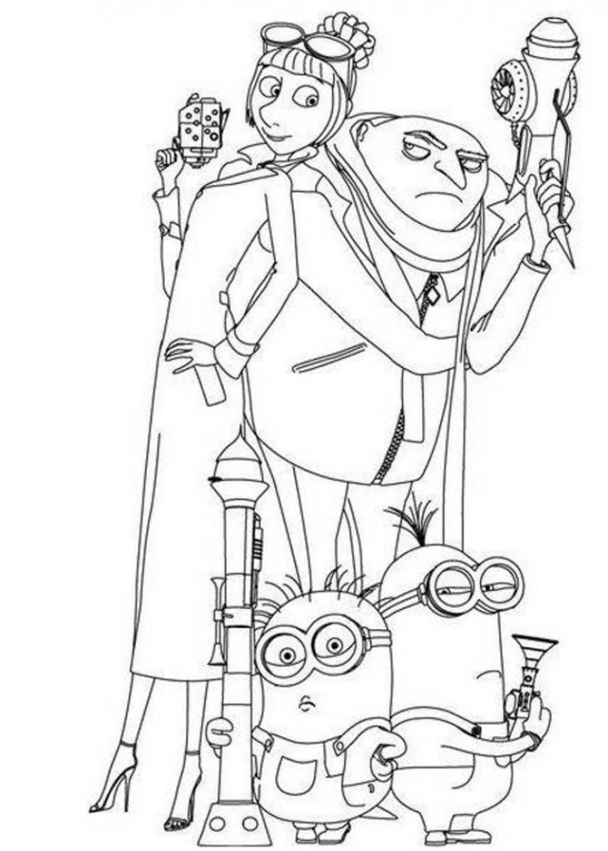Minions Printable Coloring Pages