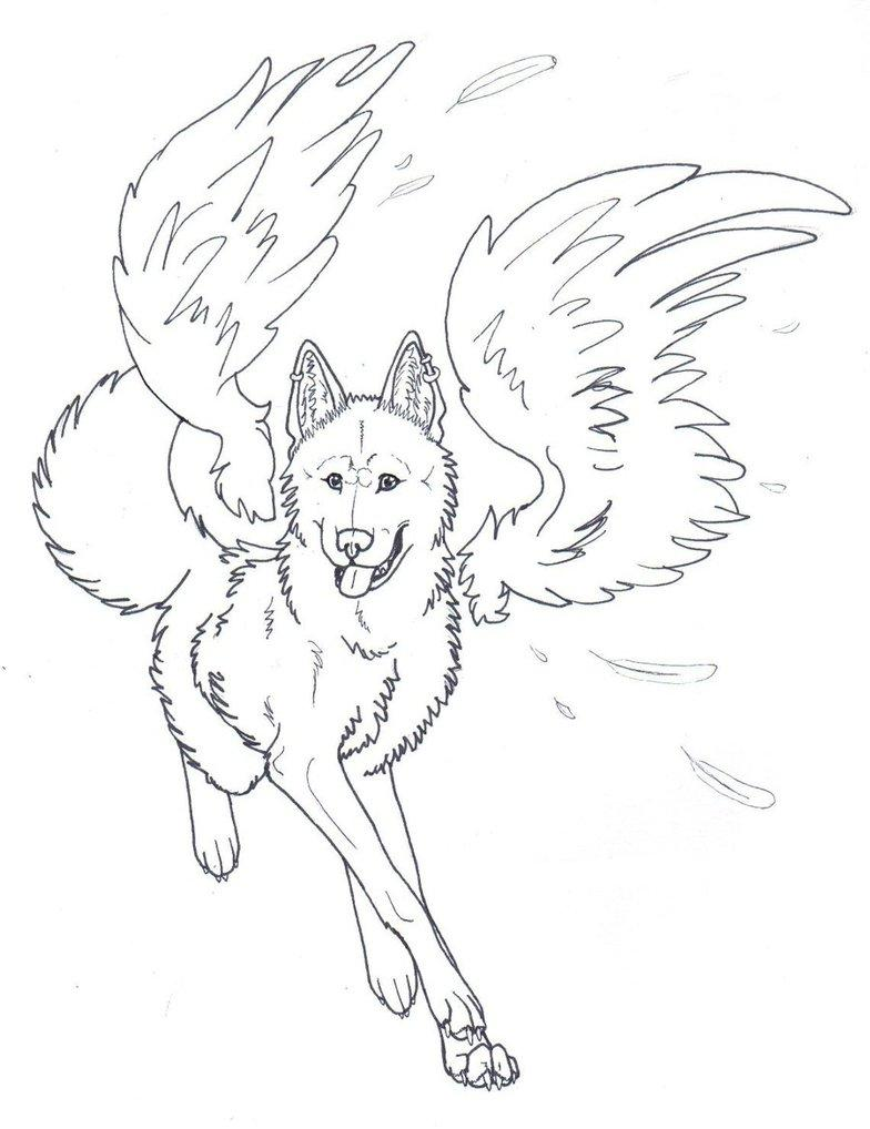 Wolves With Wings Coloring Pages