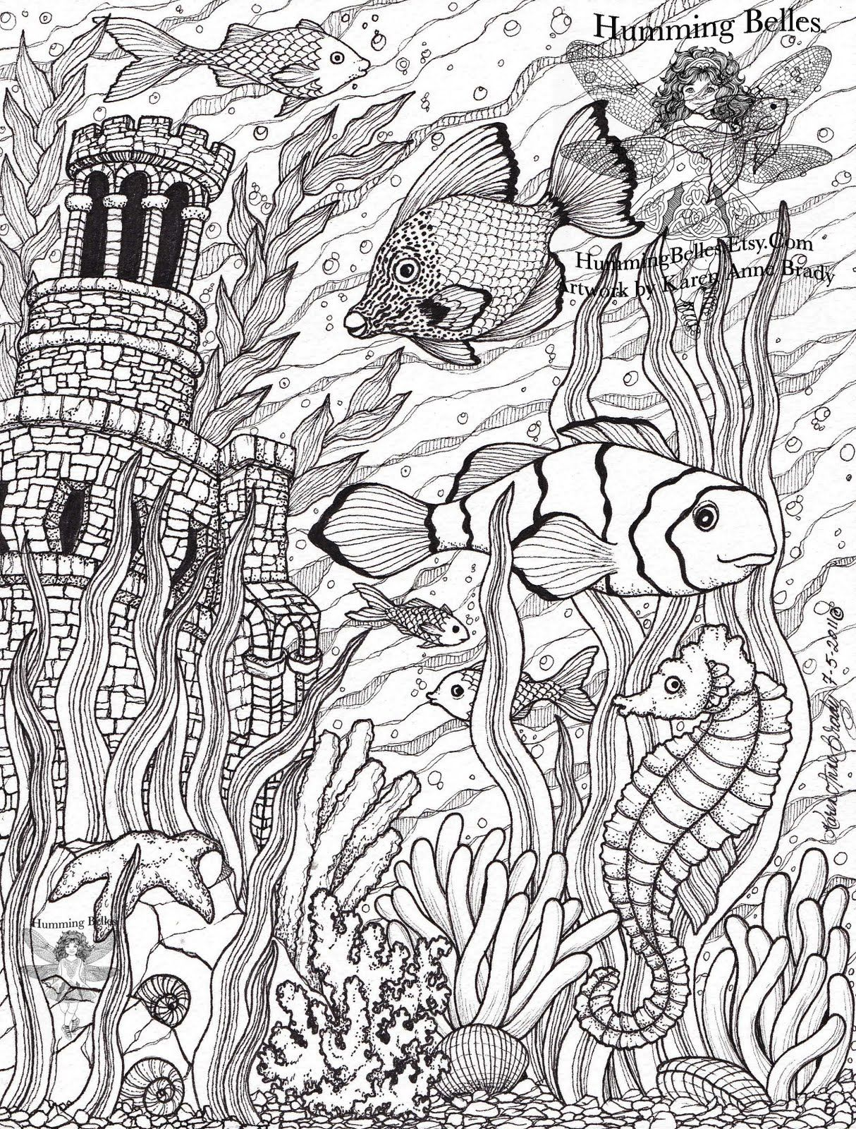 Coloring pages for under the sea - Undersea Illustrations And Coloring Pages