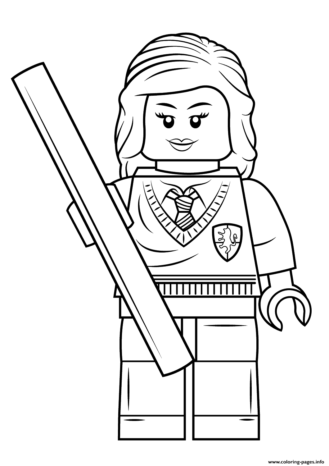 harry potter coloring pages pdf | Print Lego Hermione Granger Harry Potter Coloring Pages ...