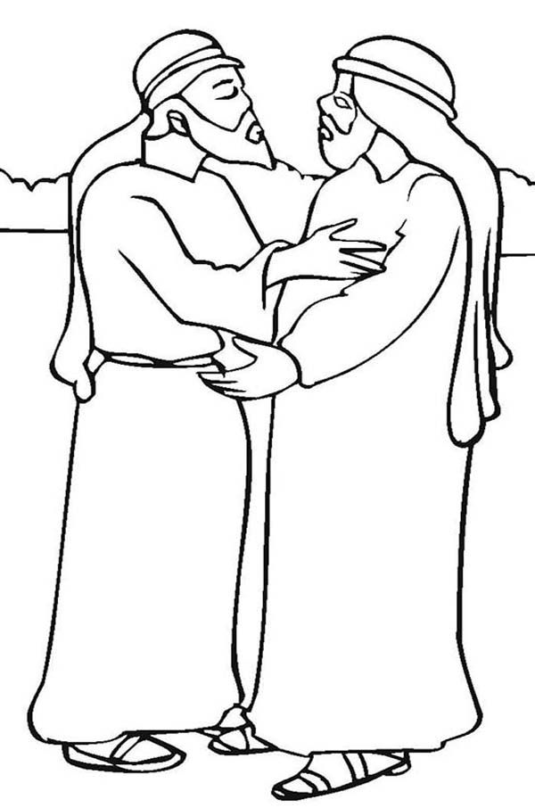 jacob meets esau coloring pages - photo#9