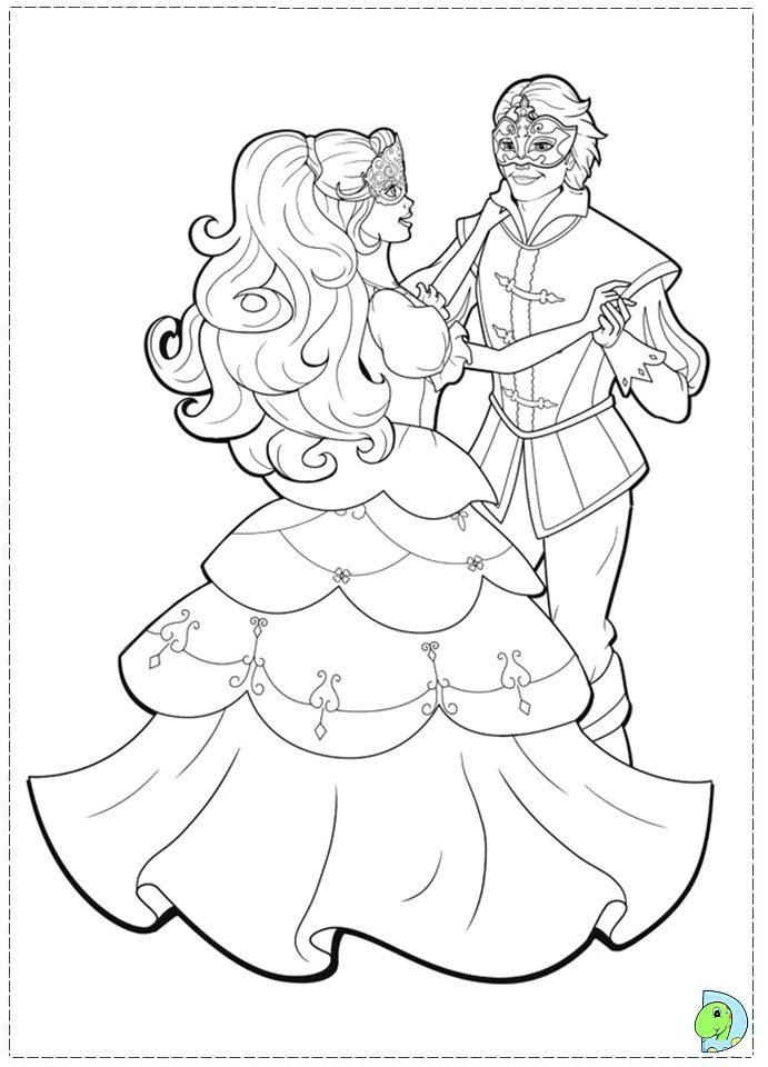 Barbie and the three Musketeers Coloring page- DinoKids.