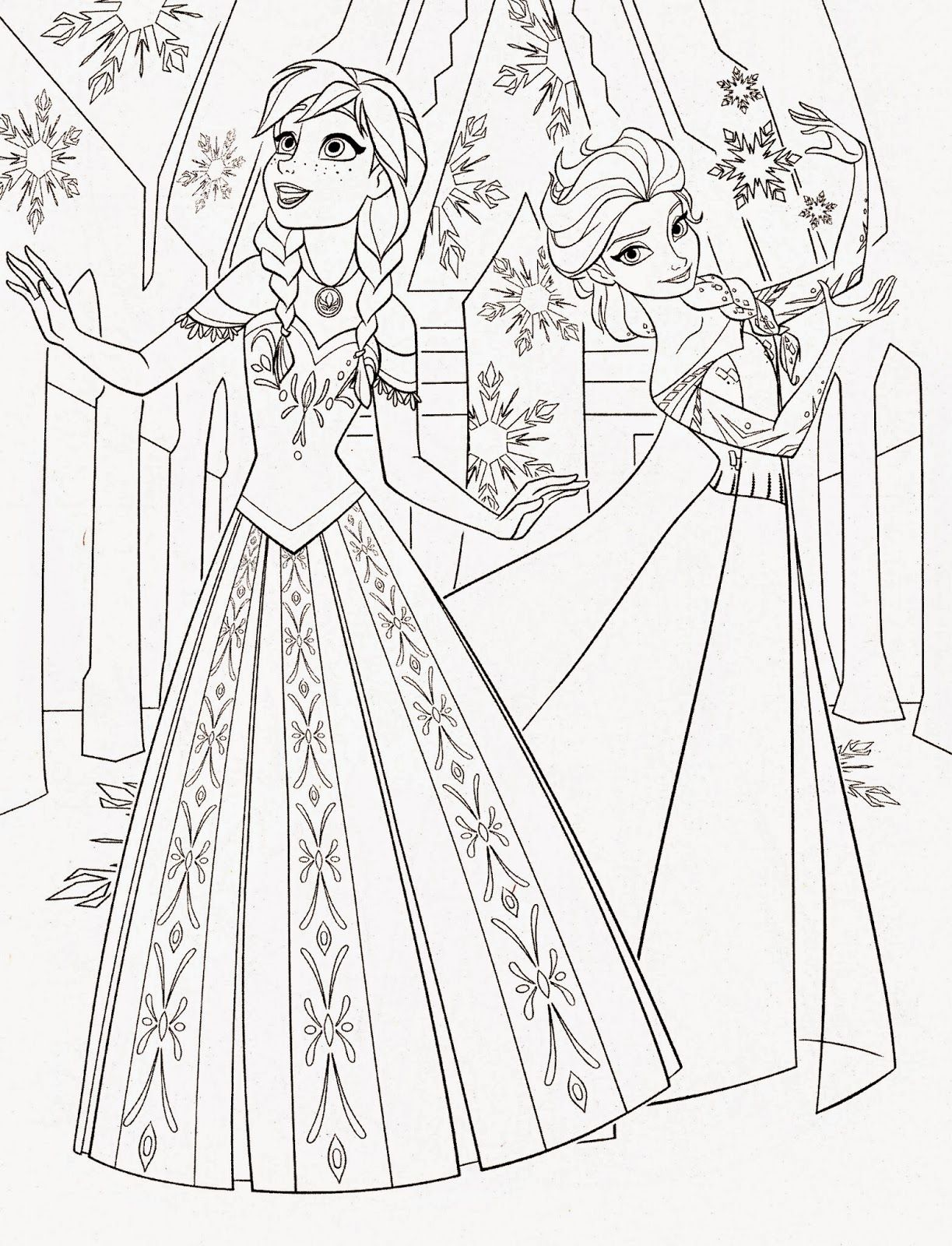 Frozen Anna And Elsa Coloring Pages - Coloring Home
