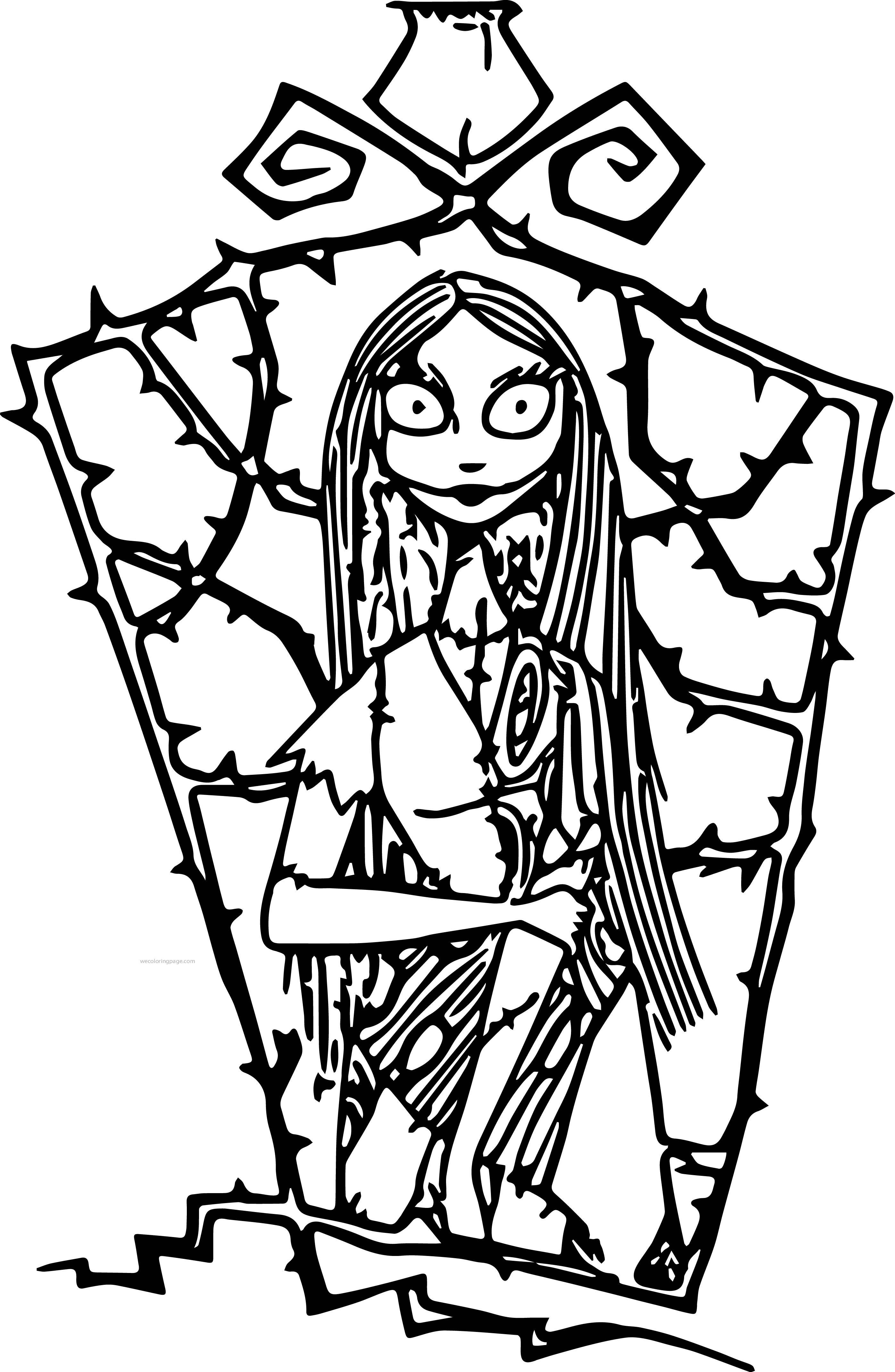 The Nightmare Before Christmas Coloring Pages Coloring Home Nightmare Before Coloring Pages
