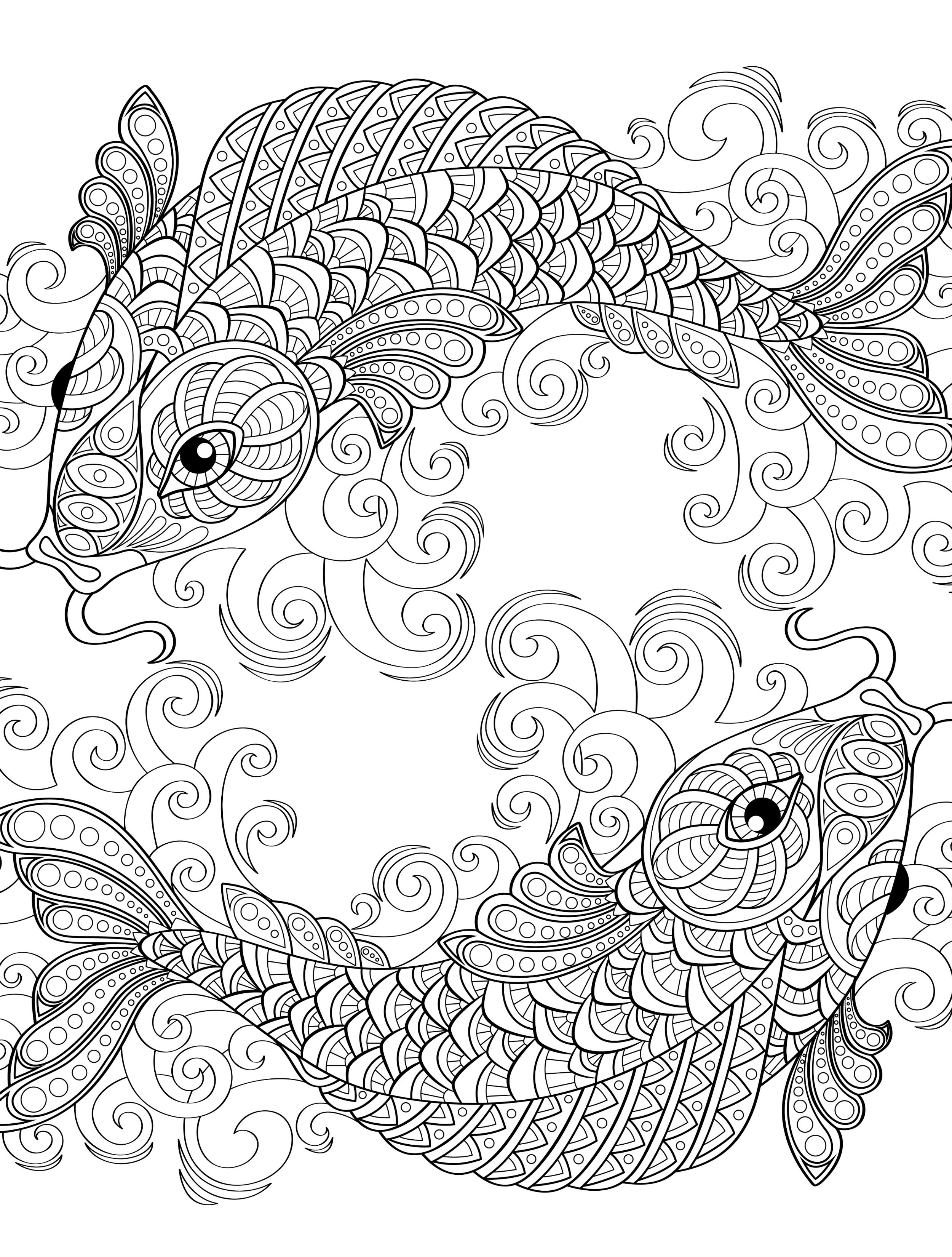 japanese fish coloring pages - photo#28