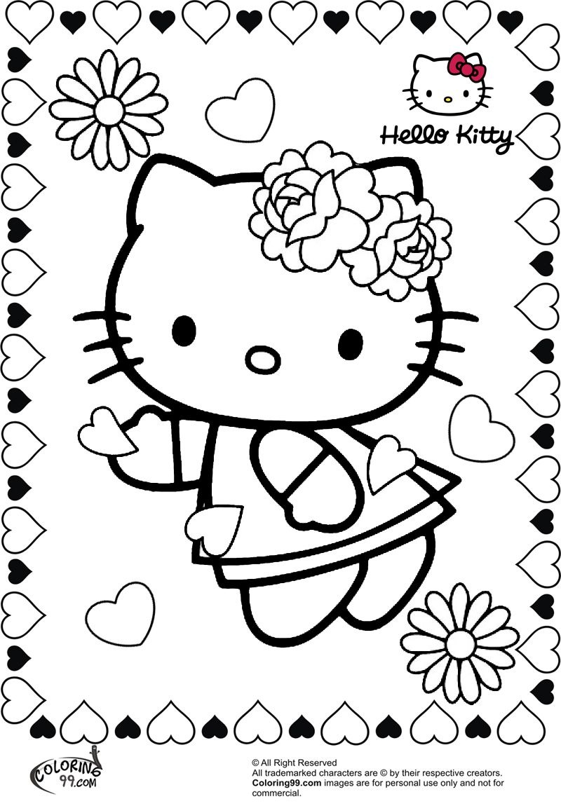 Adult Top Hello Kitty Valentine Coloring Pages Images best hello kitty valentine coloring pages az coloring99 com 2 gallery images