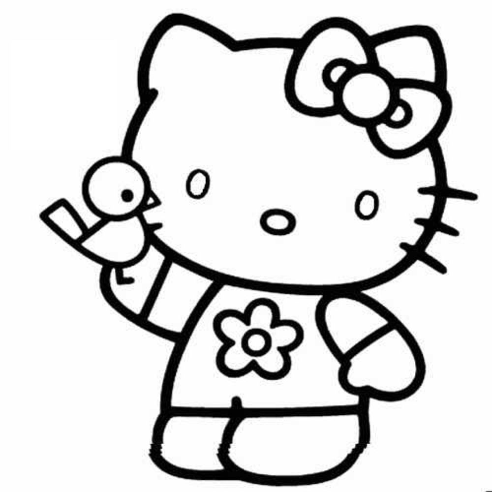 Hello Kitty Coloring Pages Free Printable Funny Coloring Page ...