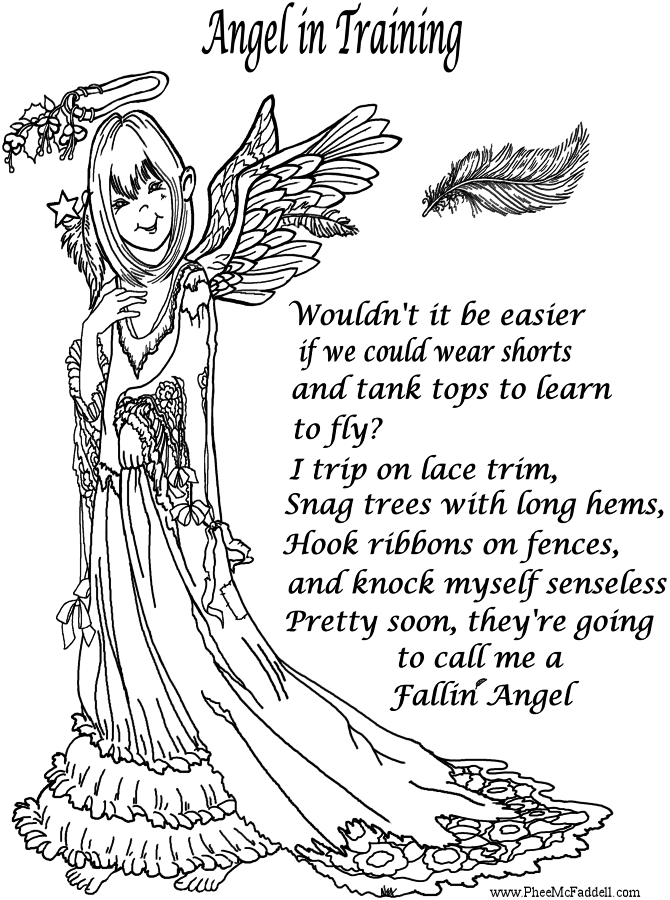 Angel Coloring Pages Pdf : Pics of fallen anime angels coloring pages