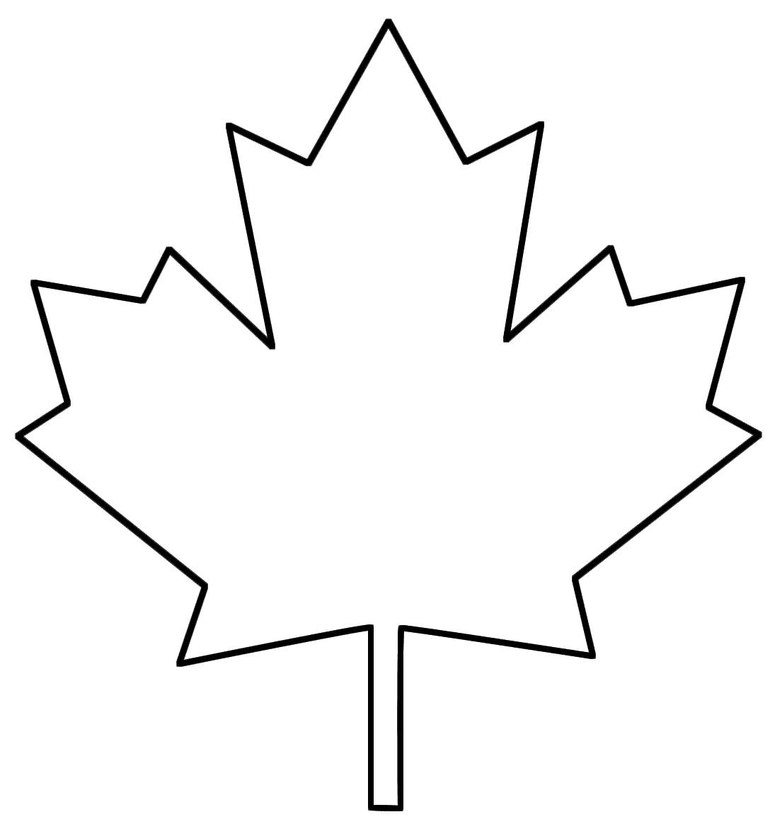 Maple Leaf  Coloring Page Plants  Coloring Home