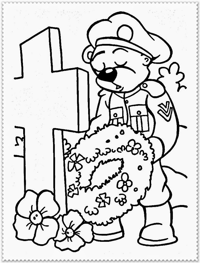 Free coloring pages for remembrance day - Remembrance Day Coloring Pages Realistic Coloring Pages