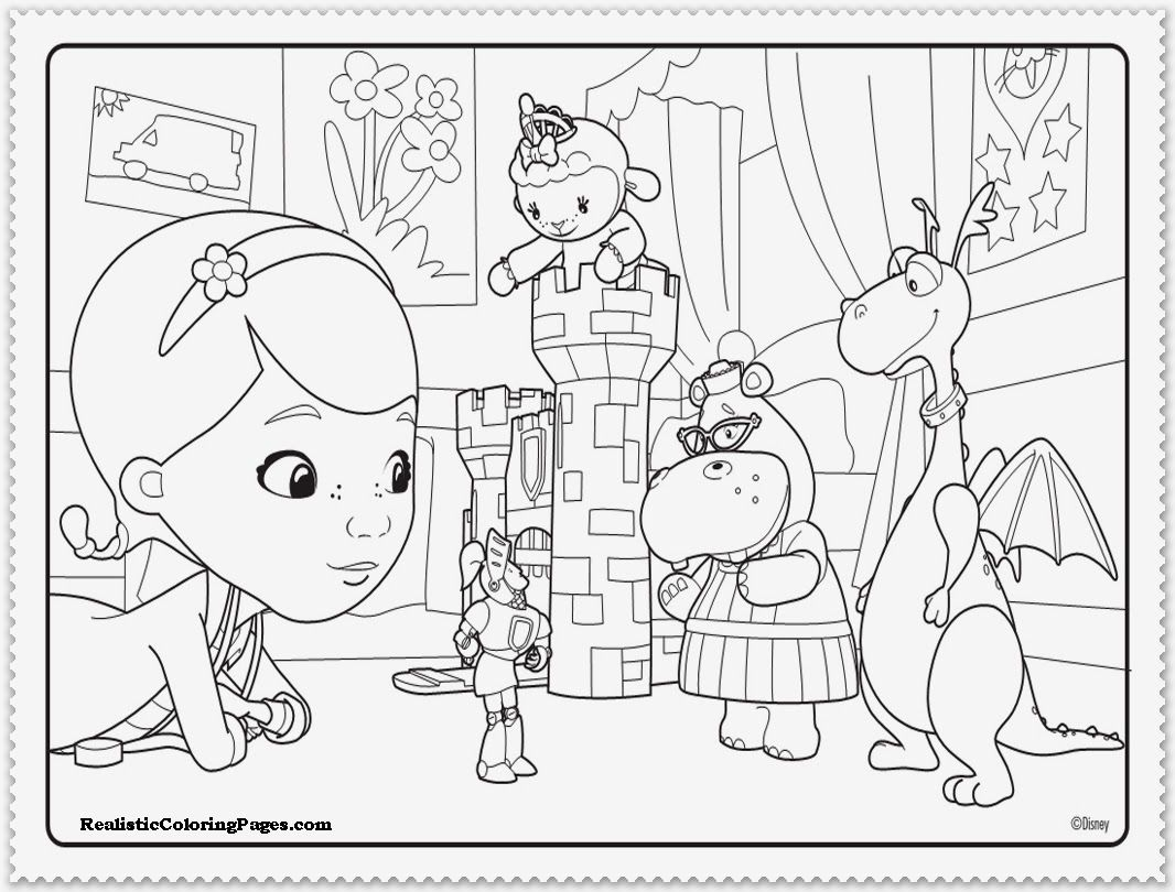 7 Pics Of Doc McStuffins Christmas Coloring Pages