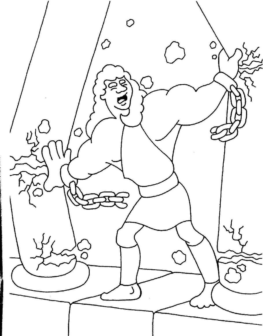 Samson Coloring Pages Coloring Home