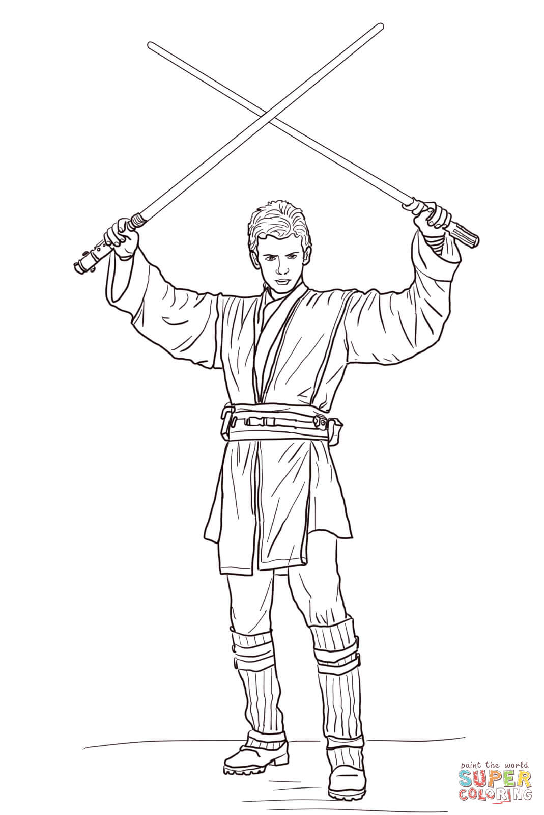 Adult Best Luke Skywalker Coloring Page Gallery Images top luke skywalker printable coloring pages az anakin with two lightsabers page free images