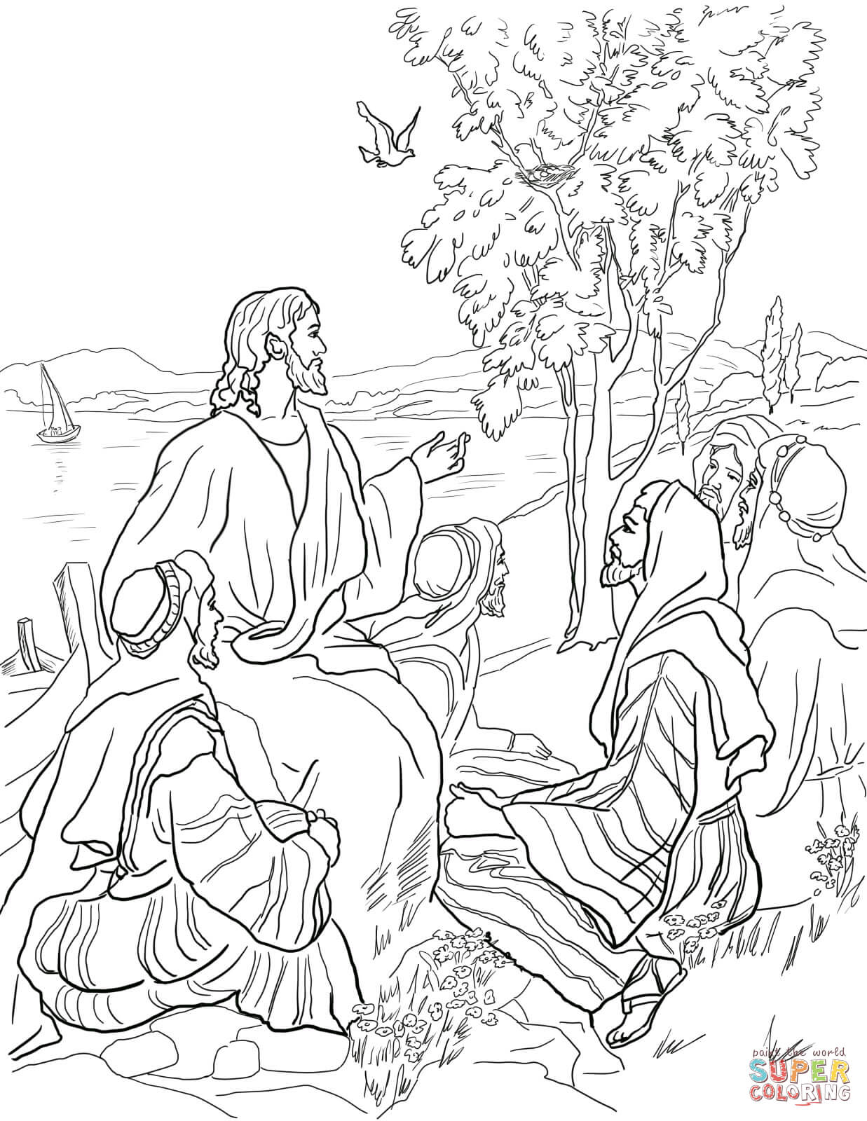 Jesus' parables coloring pages | Free Coloring Pages