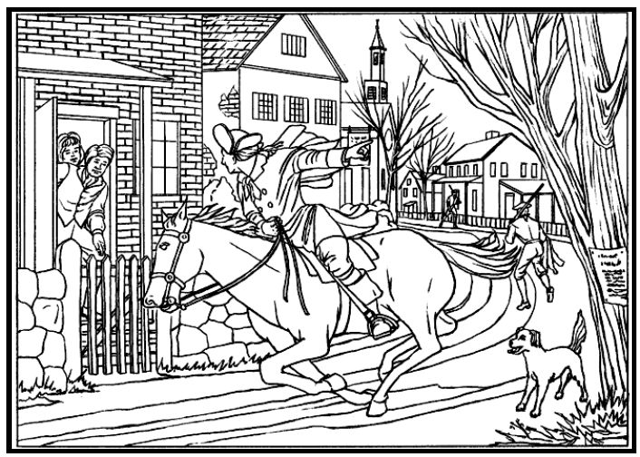 Paul Revere Coloring Home