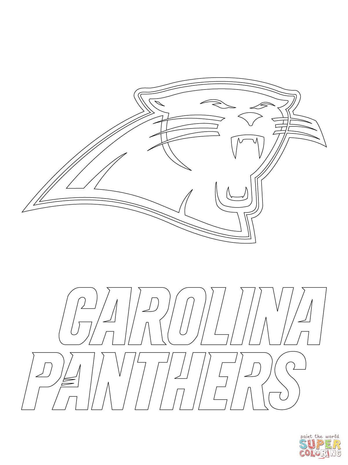 Carolina Panthers Logo coloring page | Free Printable Coloring Pages