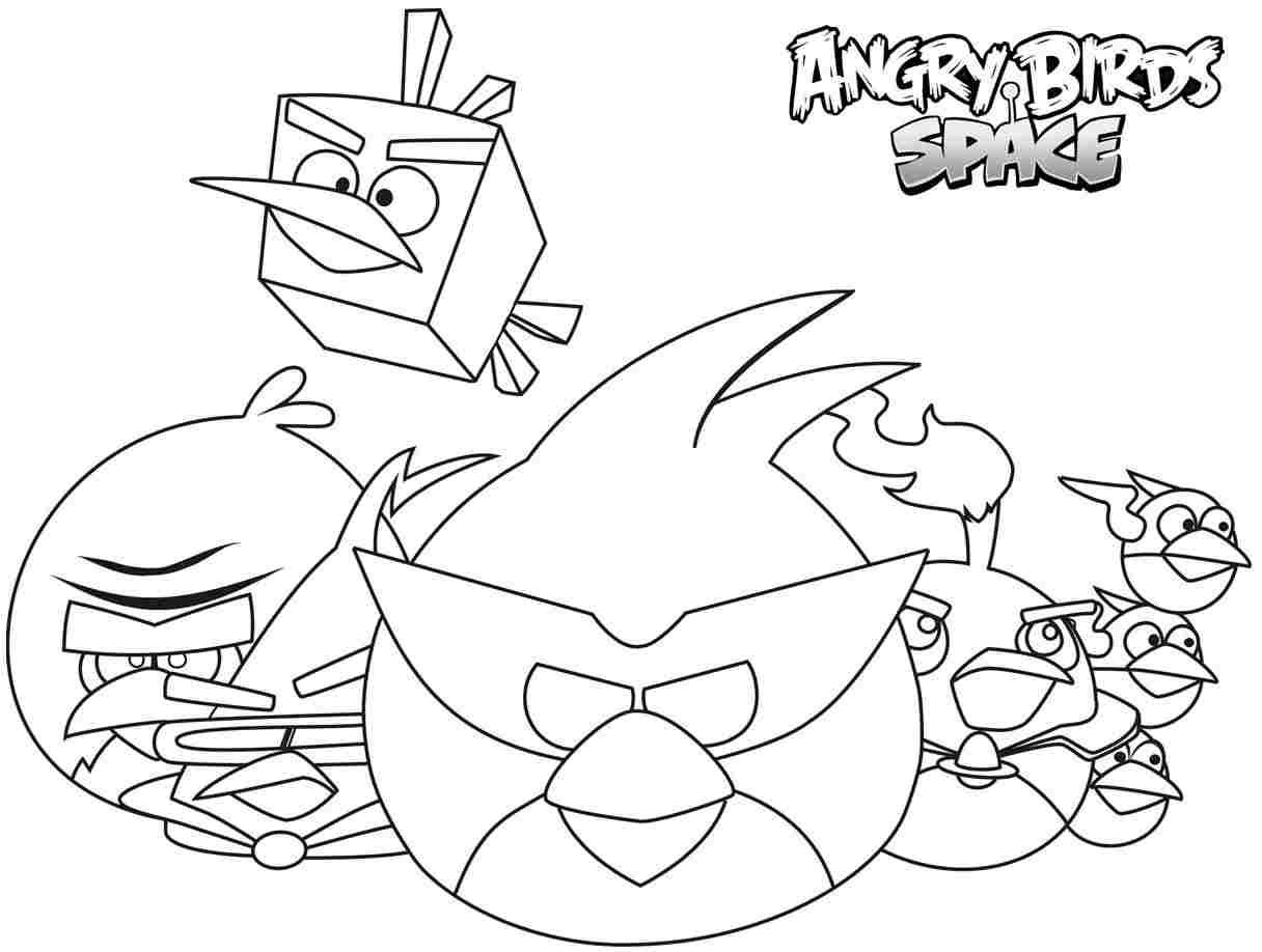 Angry Bird Space Coloring Pages - Coloring Home