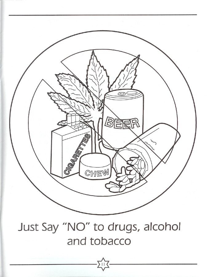 Anti Drug Coloring Pages - AZ Coloring Pages