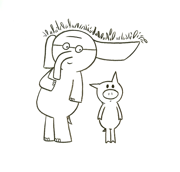 piggy and elephant coloring pages - photo#13