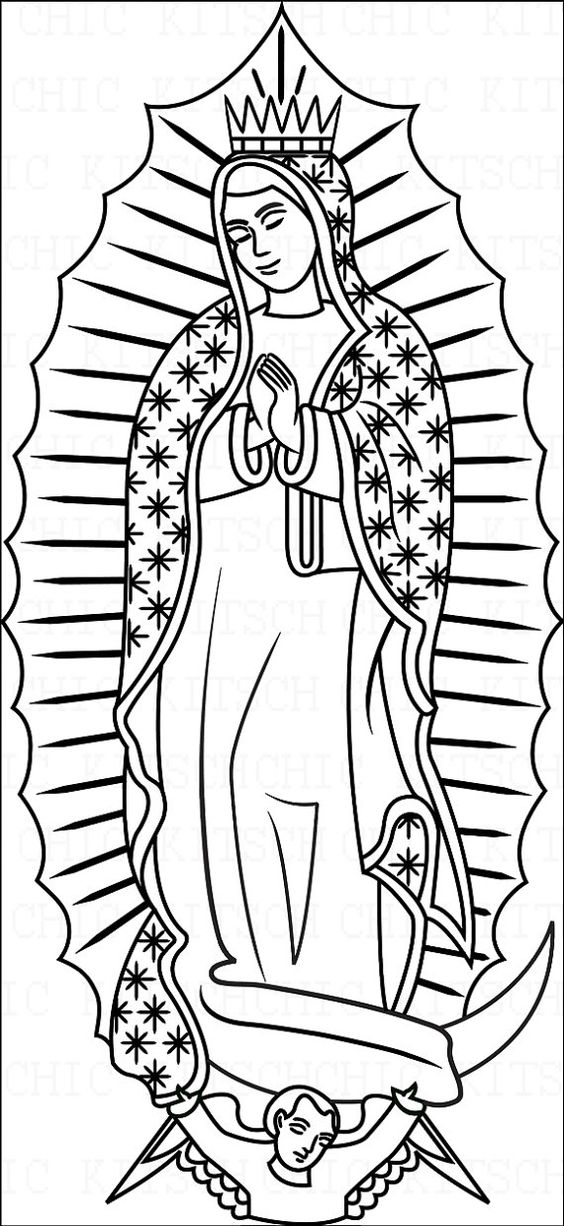 La Virgen De Guadalupe Coloring Pages Coloring Home