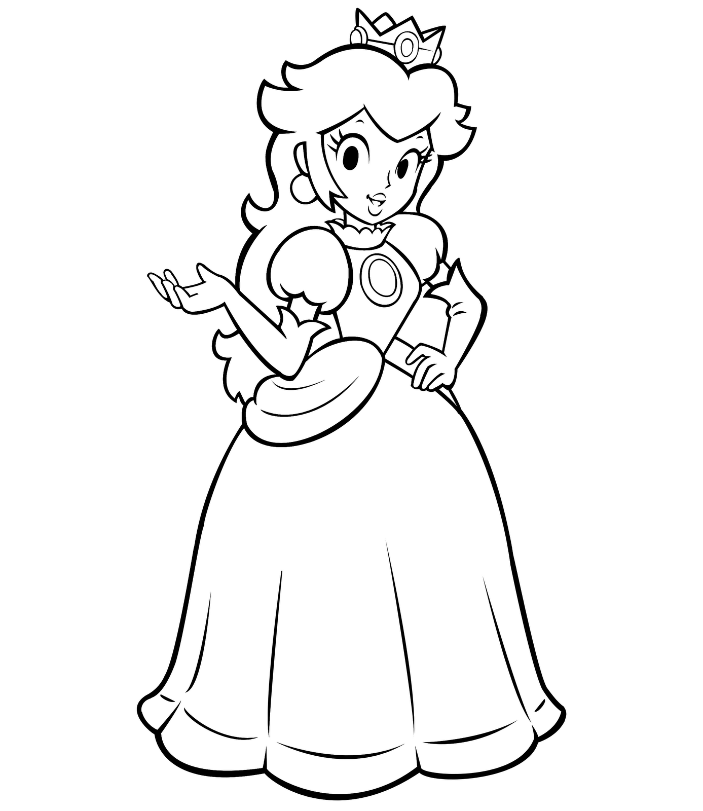 super mario bros princess peach coloring pages high quality