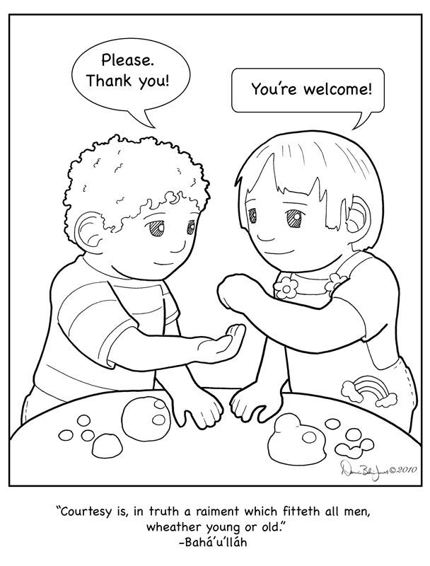 free cooperation coloring pages - photo#10