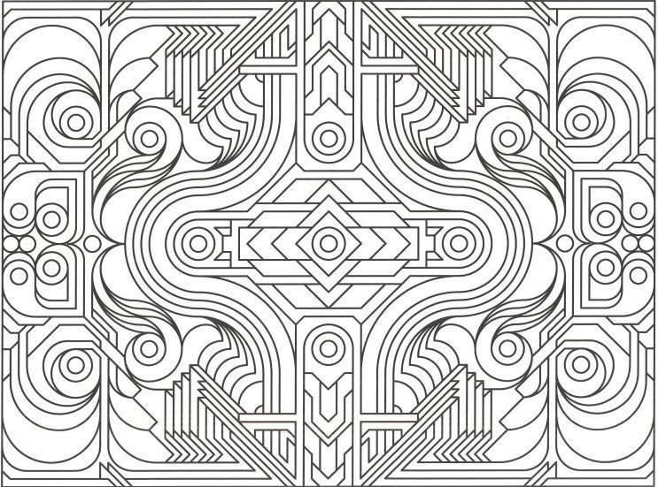 free coloring pages with designs-#45
