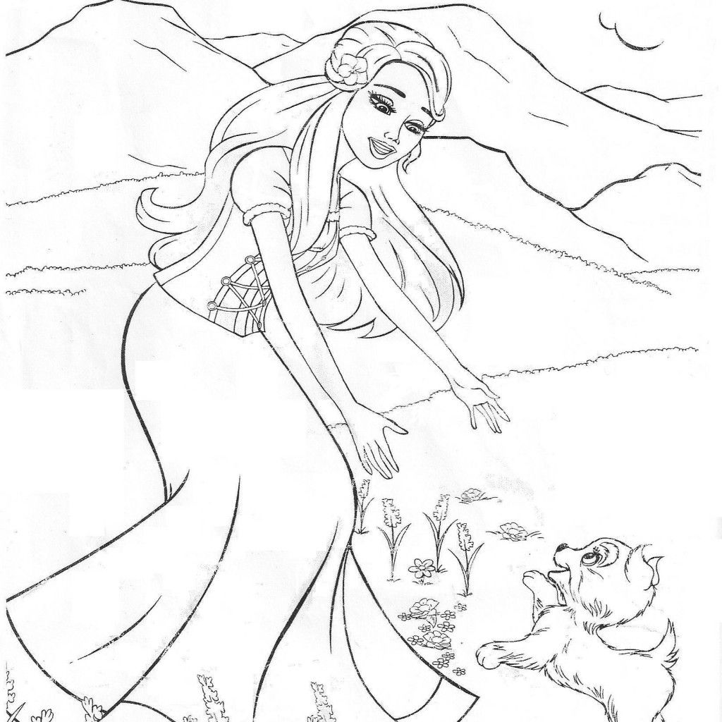 barbie princess and the popstar coloring pages | Only Coloring Pages
